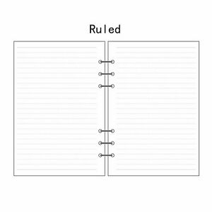 A5/A6/A7 Ruled Planner Diary Insert Refill Schedule Organiser 45 Sheets Note #UK