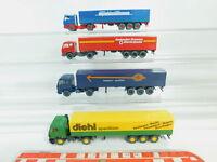BO678-0,5# 4x Wiking H0/1:87 Sattelzug MB: diehl+Rosbacher+Maier+Dören, NEUW