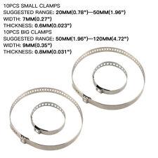 20pcs Universal Car Drive Shaft Axle CV Joint Boot Crimp Clamps Kit Small Large