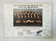NEW ZEALAND ALL BLACKS 1991 TOUR TO ARGENTINA SIGNED PHOTO PRINT