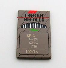 ORGAN NEEDLES PACK OF TEN 16x257 SIZE 16 SINGER 31-15 31-17 31-18 31-19 31-20
