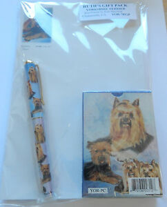 Ruth Maystead Gift Pack playing cards, pen, note pad, Yorkshire Terrier  dogs