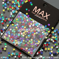 2000 pcs Colourful Stars Slices Nail Art Decoration Accessories #E1188
