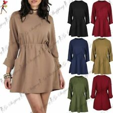 Short Sleeve Mini Dresses for Women with Pockets