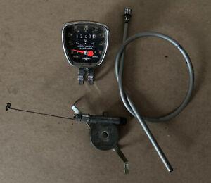 """VINTAGE SCHWINN 5080 27"""" Bicycle Bike Speedometer Set Sold As Is"""