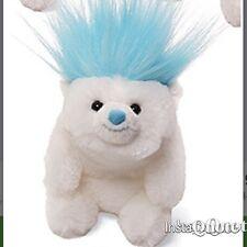 """Gund - Snuffles Bad Hair Dos Backpack Clip - 3.5"""" - BLUE- Hair Bear Plush Toy"""