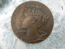 Ancienne Médaille Bronze Caisse D'Epargne De St-Etienne ArmeVille Furanum