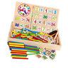 Boîte à Compter Montessori En Bois Enseignement Jouet Éducatif pour