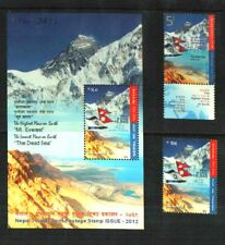 NEPAL-ISRAEL 2012 EVEREST/DEAD SEA SHEET + 2 STAMPS MNH (3 ITEMS)