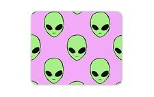 UFO Aliens Fun Pattern Purple Mouse Mat Pad - Cool Geeky Gift Computer #14407