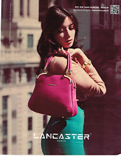 PUBLICITE ADVERTISING 104  2013   LANCASTER   collection maroquinerie sacs