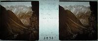 Targa Stereoscopico Fotografia Massiccio Del Seguret Vu Di Clapouse c1920