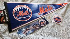 "New York Mets Official MLB 30"" Pennant NY + BUMPER STICKER  & WINDOW DECAL 2 in"