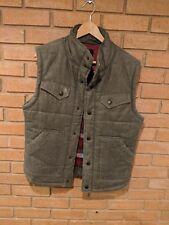 Kane and Unke Padded Vest Mens Size Large (L) Linen Blend Outdoor