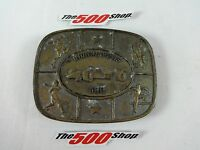 Indianapolis 500 IndyCar Bronze Belt Buckle Indy IMS