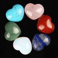 Assorted Tiger eye Quartz Heart Shape Healing Crystal Chakra Natural Reiki