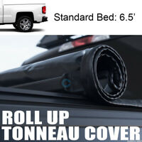 """Fits 14-18 Chevy Silverado/GMC Sierra 6.5 Ft 78"""" Bed Roll-Up Soft Tonneau Cover"""