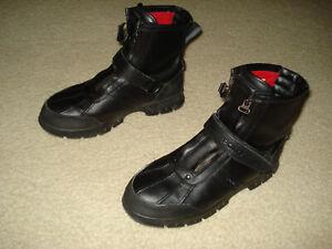 Ralph Lauren Polo Conquest Hi II Men's Black Leather Boots Sz 11D