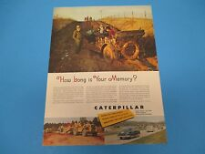 1953 Caterpillar Diesel Engines, Tractors, Graders, Print Ad PA011