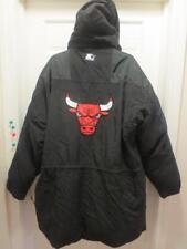 RARE!! CHICAGO BULLS STARTER NBA Basketball DOWN FILL Hooded COAT Jacket 2XL XXL