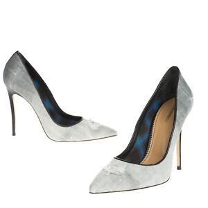 RRP€580 DSQUARED2 Denim Court Shoes EU 41 UK 8 US 11 Ripped Paint Splatter Ombre