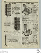 1922 PAPER AD Wheel Chair Invalid Fixed Rolling Reed Woven Back Seat Vintage