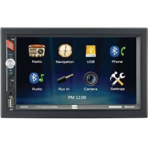 7-Inch Double-DIN In-Dash Mechless Receiver with Built-in Navigation and Bluetoo
