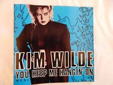 "KIM WILDE ""YOU KEEP ME HANGIN' ON"" PICTURE SLEEVE! BRAND NEW! NICEST COPY eBAY!"