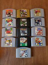 Lot Of 13 Nintendo 64 N64 Video Games Mario Zelda Rugrats Tested & Working