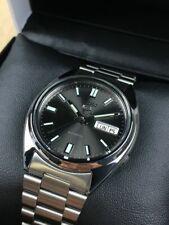 Seiko 5 SNXS79 SNXS79K Men's Automatic Watch Sunburst Black Dial 37mm NEW