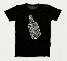 JACK DANIELS BOTTLE  T-SHIRT - CAN BE PERSONALISED - SIZE UP TO 5XL - FREE POST