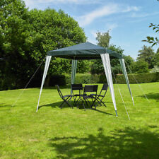 2.4 x 2.4 M GAZEBO GREEN&WHITE STRIPED PARTY TENT OUTDOOR GARDEN MARQUEE CANOPY