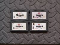 Lot Nintendo Game Boy Advance GBA Games Madden 2002 2003 2004 2005