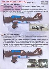 Print Scale Decals 1/72 PZL.23B KARAS Polish WWII Bomber