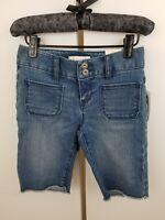 OLD NAVY Girl's Denim Jean Long Shorts Adjustable Waist Size 6 $19.94 NWT