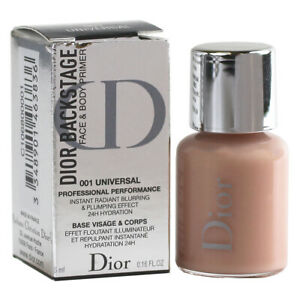 Dior Backstage Face and Body Primer 001 Universal, Travel Size 0.16oz/5ml SEALED