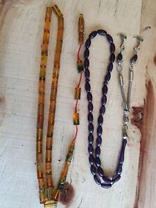 TESBIH,SIKMA KEHRIBAR,BERNSTEIN,GEBETSKETTE Rosary Kesme ve arpa model ikisi bir