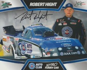 2013 Robert Hight signed AAA Ford Mustang Funny Car NHRA Hero Card