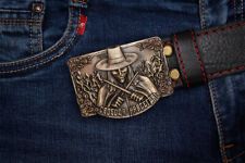 """Handmade designer leather belt """"Forever free"""""""