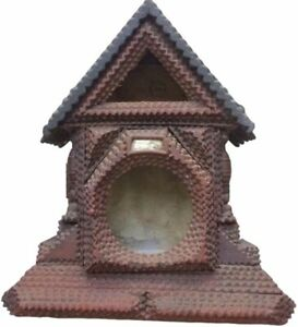 Tramp Art House - Clock or Miniature Doll House
