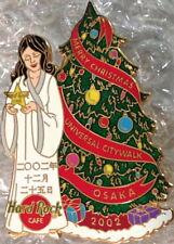 Hard Rock Cafe UC OSAKA 2002 CHRISTMAS PIN Girl in White Dress XMAS Tree #17995