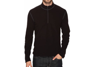Hot Chillys Micro Fleece Zip-T Black Sz  M
