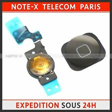 Casa Menu Botón Key Cap, Flex Cable para el iPhone 5C negro