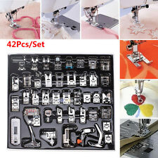 """42pc Domestic Sewing Machine Presser Foot 1/4"""" for Brother Singer Bernina Janome"""