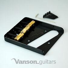 Nueva Wilkinson Negro Wtb Cenicero puente Para Telecaster ® * Guitarras, con monturas de bronce Bk