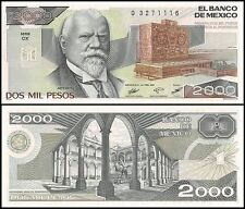Mexico 2,000 (2000) Pesos, 1987, P-86b, UNC, Series-CX