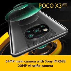 "Xiaomi Poco X3 NFC 6.67"" 128GB 64MP Snapdragon 5160mAh GLOBAL Phone USA Freeship"