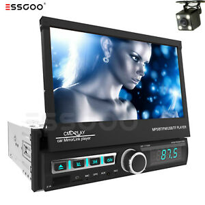 """7"""" Car Stereo Radio MP5 Player 1 DIN Navigation Touch Screen Bluetooth GPS + Cam"""