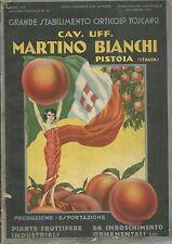 Catalogo Martino Bianchi Pistoia 1932 - Stabilimento Orticolo Toscano