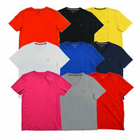 Tommy Hilfiger Mens T-Shirt Classic Fit V-neck Tee Short Sleeves Flag Logo New